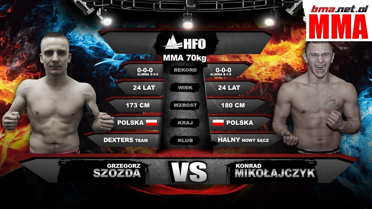 70kg吧_HFO 2: Konrad Mikołajczyk vs Grzegorz Szozda (MMA, 70 kg) - YouTube