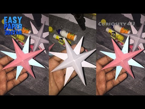 DIY Paper 3D STAR paper craft how to make star