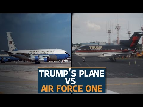 Trump S Plane Vs Air Force One Youtube