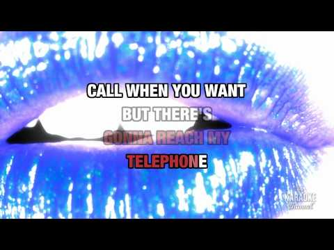 "Telephone in the style of ""Lady Gaga"" karaoke video with lyrics (no lead vocal)"