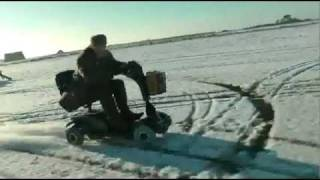 120 km h mobility scooter on snow and ice
