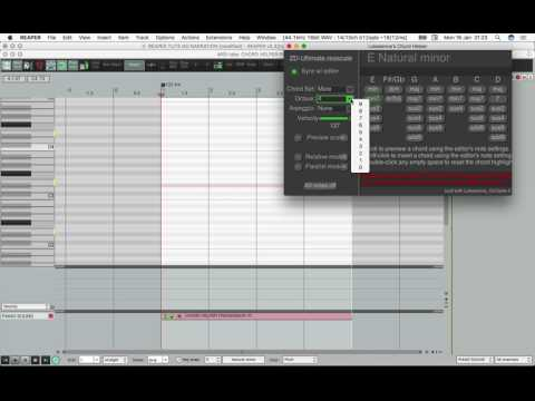 Reaper MIDI Editor: The Amazing ChordHelper Tool !