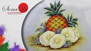 Abacaxis em Tecido – Sonalupinturas