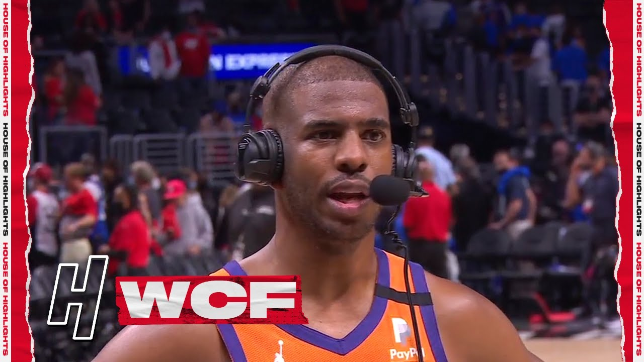 Chris Paul doesn't want to talk about the Suns going up 3-1 in WCF