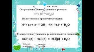 Реакции ионного обмена Часть 4 От ионной реакции, к молекулярной