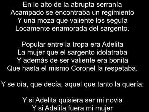 La Adelita letra - letra de Canción tradicional