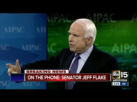 Senator Jeff Flake speaks out about McCain