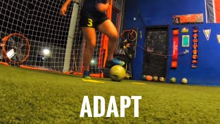 Soccer training , ball mastery skills and dynamic balance, tactical awareness, positioning