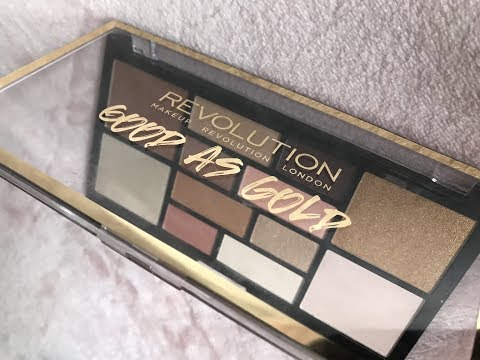Makeup Revolution Free Palette / Good As Gold