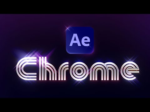 Create Retro Chrome Type in After Effects