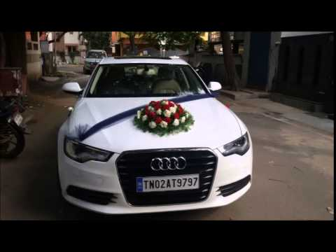 Bridal Car Rental In Chennai YouTube - Audi car decoration