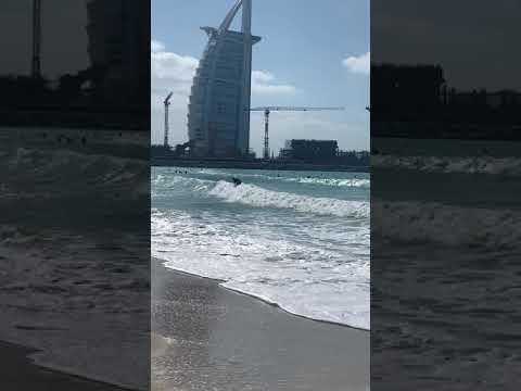 Dubai kite beach surfing 🏄♀️
