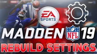 MADDEN 19 REBUILD SETTINGS! HOW TO DO A REBUILD! XP SLIDERS, HOW TO UPGRADE PLAYERS!