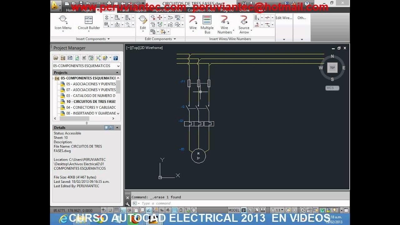 Curso Autocad Electrical Espa 209 Ol 2013 Nivel 2 Curso