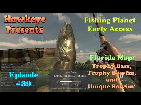 Fishing Planet - Ep. #39:  Florida Map: Trophy Bass, Trophy Bowfin, and Unique Bowfin!
