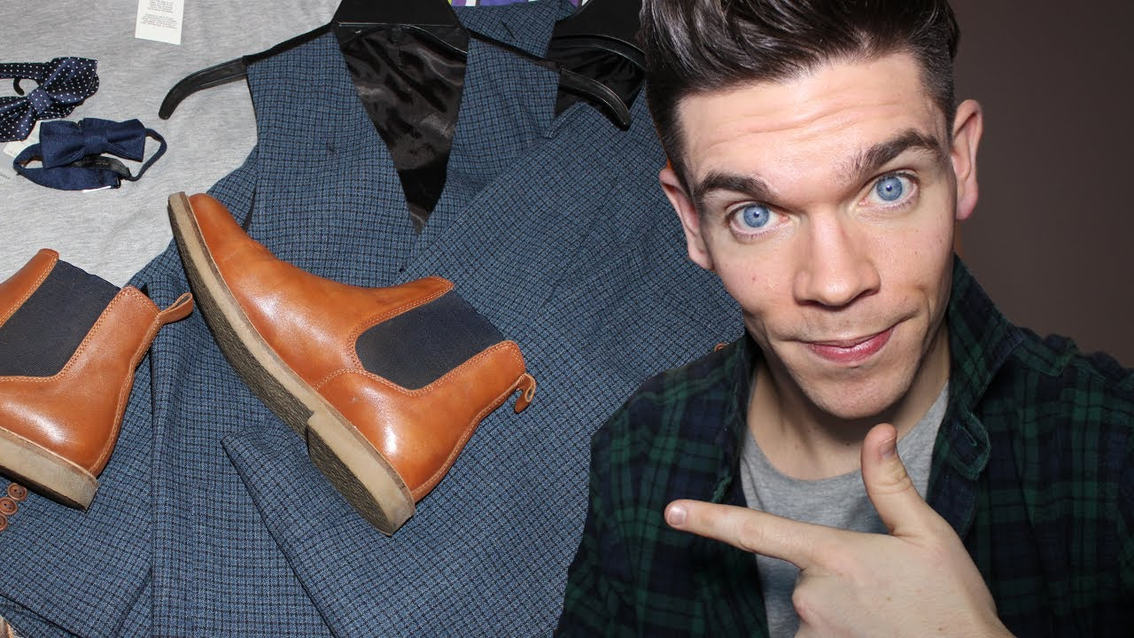 Menswear Haul  Wedding Suit and Chelsea Boots  YouTube