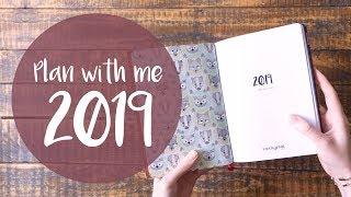 Plan with me 2019 - Kalender vorbereiten, gestalten, organisieren - Travellers Notebook X17