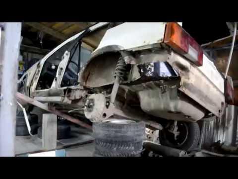 Cмотреть онлайн Восстановление утилизированного авто. 1 часть (замена лонжеронов, днища и порогов)