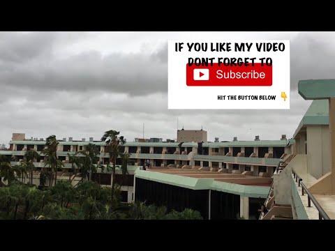 Morning after Hurricane Irma, Sol Palmeras, Varadero, Cuba, patio doors out on 4th floor.
