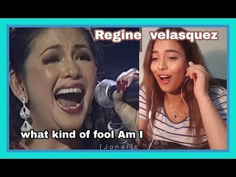 Regine Velasquez  What kind of fool Am I REACTION