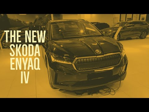 The brand new SKODA ENYAQ 2021 quick walk around fully electric power