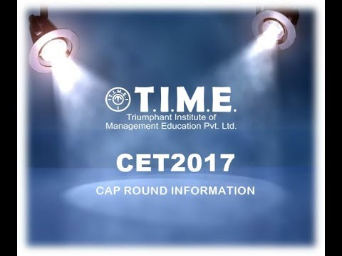 MBA/MMS CET 2017 CAP ROUND - Information and procedure