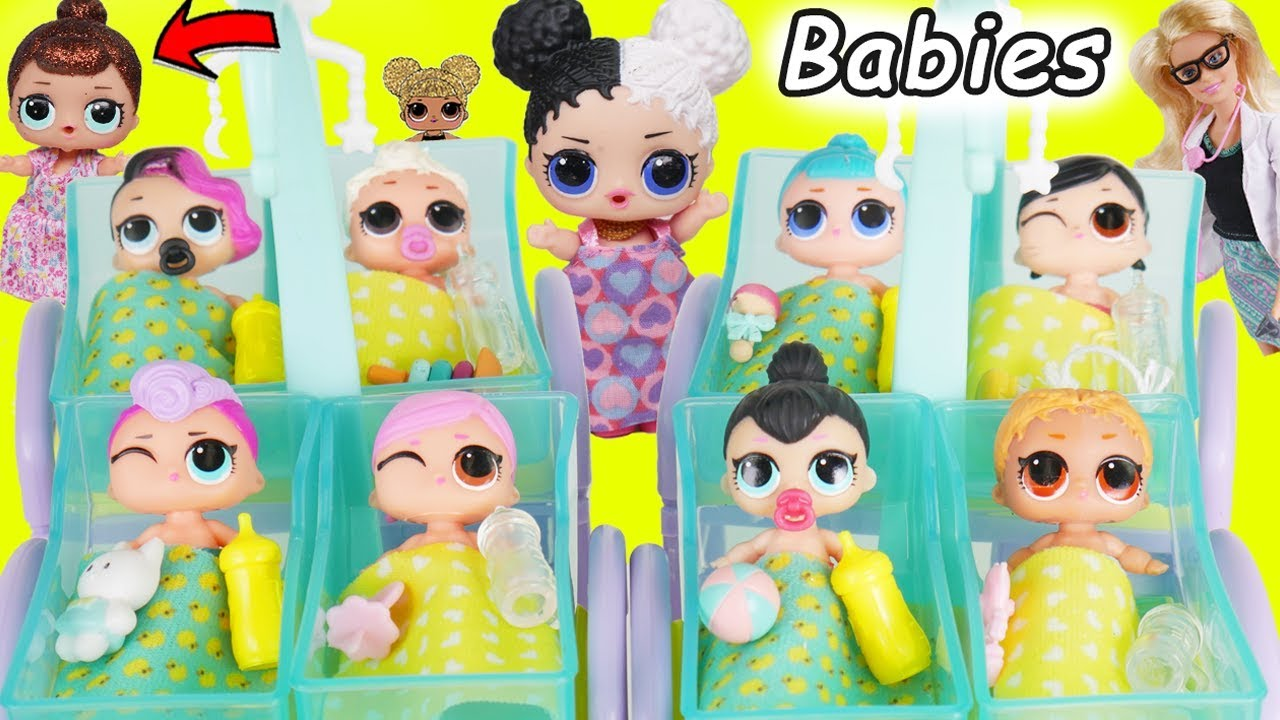 Lol Surprise Dolls Lil Sisters At Barbie Fake Toy