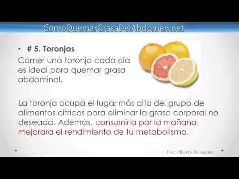 6 Potentes Alimentos Que Queman Grasa Abdominal - YouTube