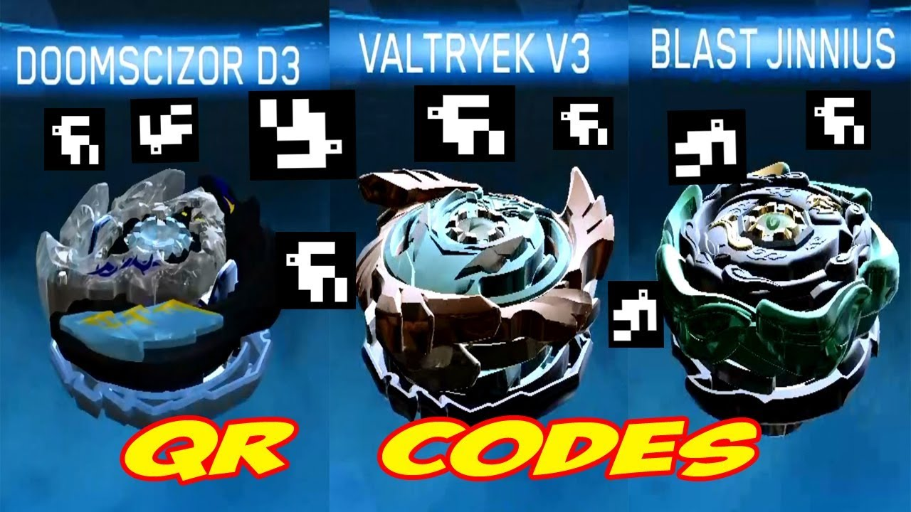 QR CODES VALTRYEK V3 DOOMSCIZOR D3 BLAST JINNIUS #1