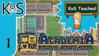 Academia: School Simulator Ep 1: NEW SCHOOL, NEW START - First Look - Let's Play, Gameplay
