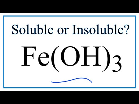 Is Fe(OH)3 Soluble Or Insoluble In Water?