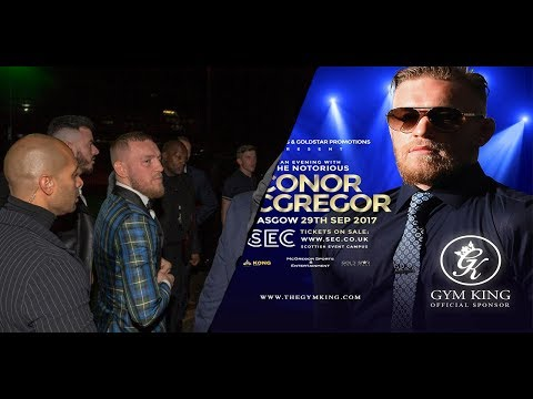 CONOR MCGREGOR Q&A IN GLASGOW TALKS MAYWEATHER, MALIGNAGGI AND HIS NEXT FIGHT IN THE UFC