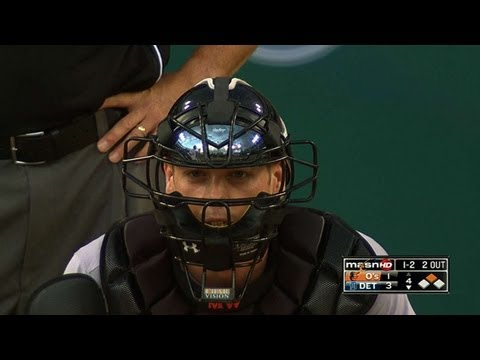 Matt Wieters has some trouble with his throw June 17 2013