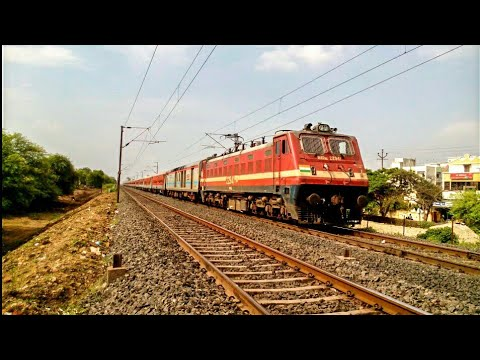 First on YouTube !! Maiden LHB Run of 22827 Puri-Surat Express | BRC WAP4E in Lead | IndianRailways