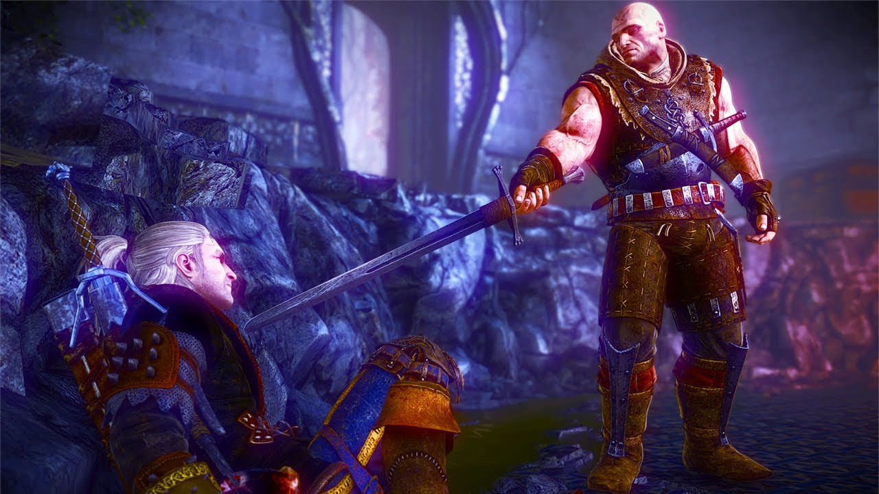 Letho Defeats Geralt In Flotsam Witcher 2 Boss Fight