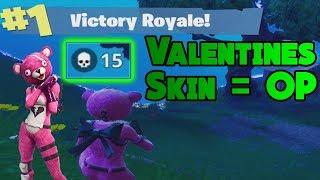 *NEW* Valentines Skin 15 Frag Solo Win - Fortnite Battle Royale Gameplay