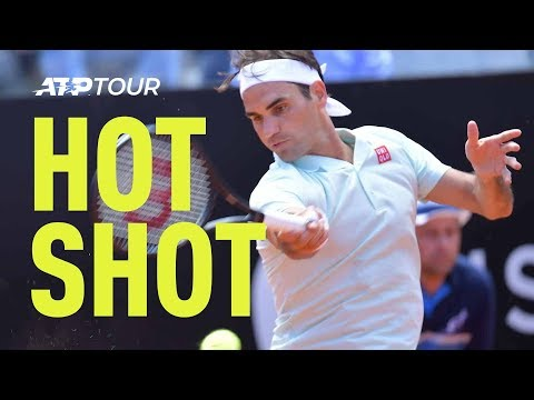 Hot Shot: Federer Fires Flashy Forehand Winner | Rome 2019