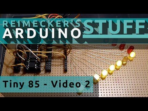 Arduino Tiny 85 Versuchsplatine Model 1