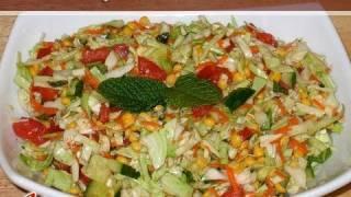 Cabbage Chana Dal Salad By Manjula, Indian Vegetarian Food