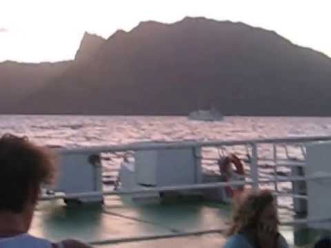 Ferry ride from Moorea to Papeete (French Polynesia)