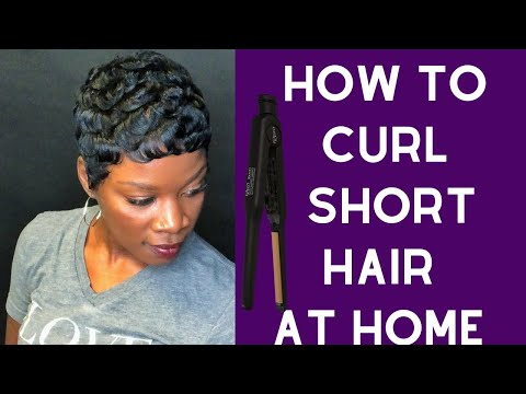 SELF QUARANTINE: HOW TO CURL SHORT HAIR WITH FLAT IRONS AT HOME