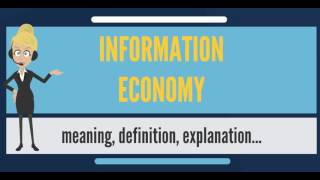 What is INFORMATION ECONOMY? What does INFORMATION ECONOMY mean?