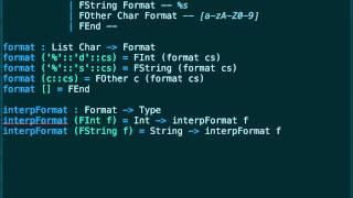 Idris: Type safe printf