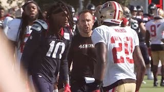Texans DeAndre Hopkins fights 49ers' Jimmie Ward at joint practice
