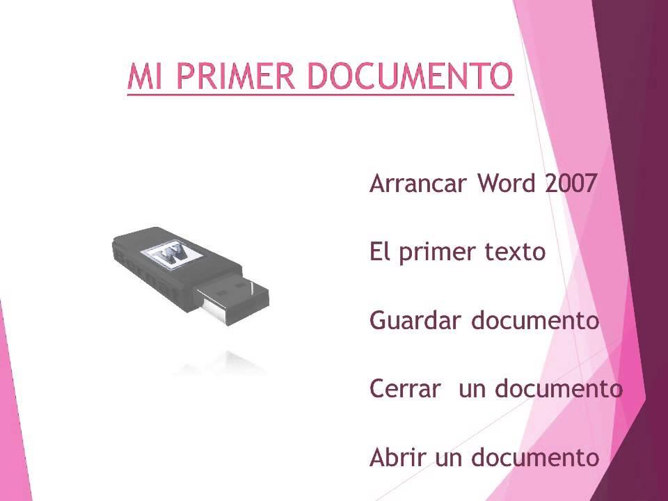 presentacion de diapositivas en word