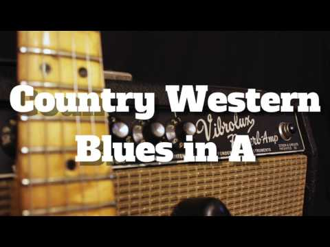 Country Western Blues Backing Track in A