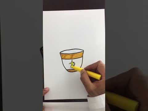 How To Draw A Cup Of Coffee كيف أرسم فنجان قهوة Youtube