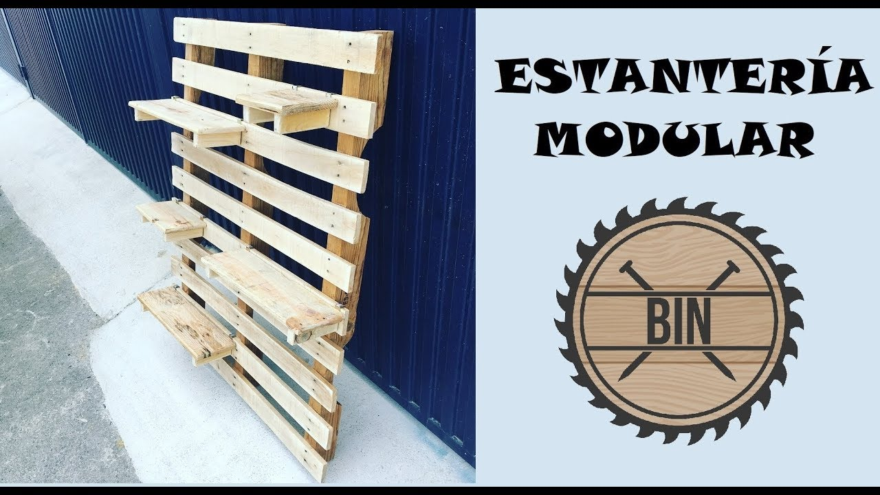 Estantería modular de jardín. Ideas con pallets - YouTube