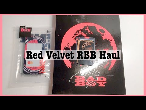 Kpop Haul #56 | (small) Red Velvet 레드벨벳 Really Bad Boy (RBB) Merch Haul