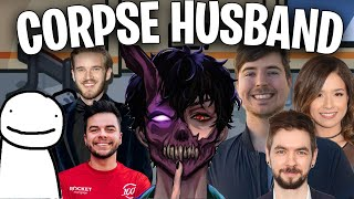 Youtubers React To Corpse Voice ft Dream, MrBeast, Pewdiepie